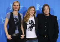 Producer Vedra Mehagian, director Nicole Haeusser and Joe Dallesandro at the photocall of