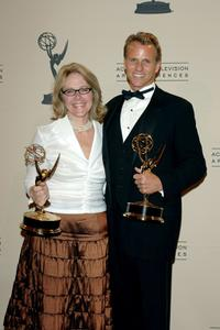 Junie Lowry-Johnson and Scott Genkinger at the 2005 Creative Arts Emmy Awards.