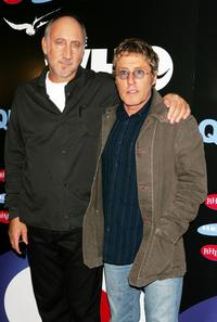 Roger Daltrey and Pete Townshend at the party to celebrate the release of their new DVD