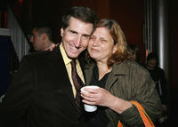 Paul Rudnick and Wendy Wasserstein at the press conference to announce the First Annual Tribeca Theater Festival in New York.