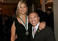 Gabrielle Reece and Ray Mancini at the 23rd Annual Great Sports Legends Dinner to Cure Paralysis.
