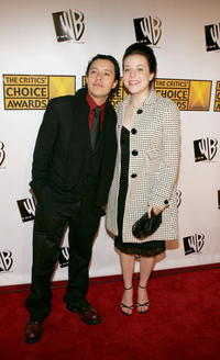 Efren Ramirez and Tina Majorino at the 10th Annual Critics' Choice Awards.