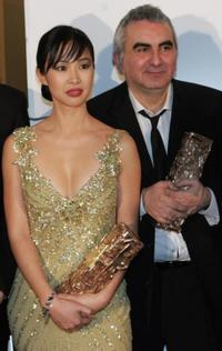 Linh-Dan Pham and Tonino Benaquista at the 31st Nuit des Cesar France's top movie awards.