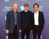 Ron Howard, Akiva Goldsman and Brian Grazer at the premiere of