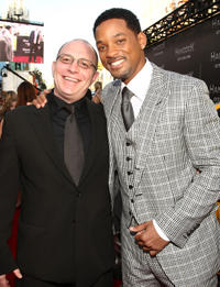 Akiva Goldsman and Will Smith at the California premiere of
