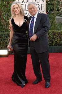 Shera Danese and her husband Peter Falk at the Golden Globe Awards.