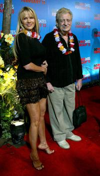 Rodney Dangerfield and his wife at the premiere of