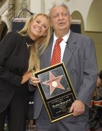 Rodney Dangerfield and wife Joan at the Hollywood Walk of Fame.