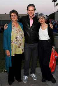 Jane Jenkins, Cary Elwes and makeup supervisor Lois Burwell at the Academy of Motion Picture Arts and Sciences' Oscars Outdoors California premiere of