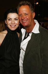 Julianna Margulies and David R. Ellis at the after-party premiere of