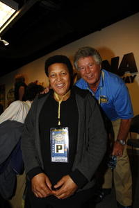 Chubby Checker and Mario Andretti at the NASCAR Sprint Cup Series Daytona 500.