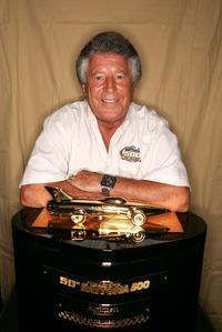 Mario Andretti at the NASCAR Nextel Cup Series Pepsi 400.