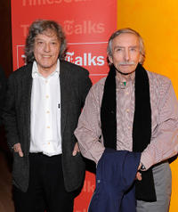Writer Tom Stoppard and Edward Albee at the New York Times TimesTalk.