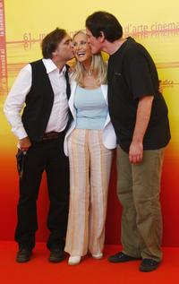 Joe Dante, Barbara Bouchet and director Quentin Tarantino at the at the 61st Venice Film Festival.