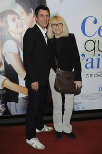 Marc Lavoine and Mireille Darc at the premiere of