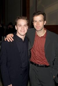 T.R. Knight and Thomas McCarthy at the opening night party of