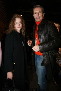 Florence Darel and Lambert Wilson at the Socialist party meeting.