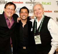 Francisco Menendez, Matt Ferucci and Henry Darrow at the screening of