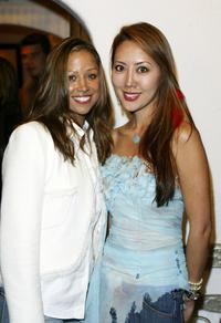 Stacey Dash and Shizue Nobuta at the Shizue handbag Oscar preview launch party.