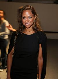 Stacey Dash at the Mercedes-Benz Fashion Week.