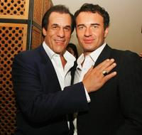 Robert Davi and Julian McMahon at the afterparty for the premiere of