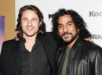 Naveen Andrews and Martin Henderson at the premiere of