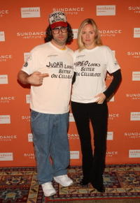 Judah Friedlander and Hope Davis at the 2008 Sundance Gala Fundraiser.