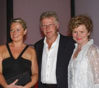 Heather Craney, Philip Davis and Imelda Staunton at the premiere of