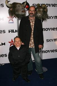 Warwick Davis and Howard Berger at the Total Film and Sky Movies Red Carpet Preview.