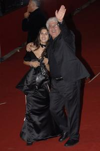 Tresy Taddei and Ninetto Davoli at the premiere of