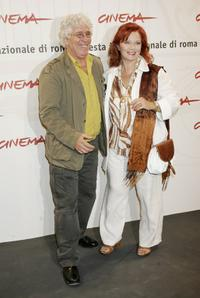Ninetto Davoli and Agostina Belli at the promotion of