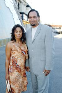 Wanda De Jesus and Jimmy Smits at the premiere of