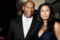 Director John Singleton and Wanda De Jesus at the National Hispanic Foundation for the Arts 10th Anniversary Celebration.
