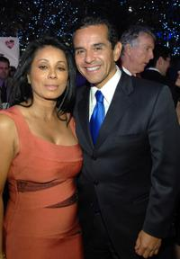 Wanda De Jesus and Antonio Villaraigosa at the grand opening of Congo Room.