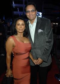 Wanda De Jesus and Jimmy Smits at the grand opening of Congo Room.