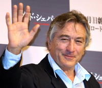 Robert De Niro at a Tokyo news conference for