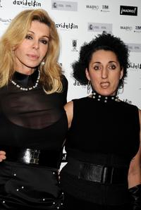 Bibi Andersen and Rossy de Palma at the David Delfin party.