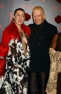 Rossy de Palma and Jean Paul Gaultier at the Telva Magazine Fashion Awards.