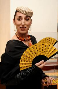 Rossy de Palma at the Louis Vuitton hand fan collection presentation.