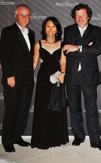 Norbert Platt, Rosalyn Platt and Joaquim de Almeida at the Jaeger Gala Dinner Fondazione Cini during the 65th Venice Film Festival.
