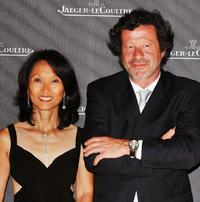 Rosalyn Platt and Joaquim de Almeida at the Jaeger Gala Dinner Fondazione Cini during the 65th Venice Film Festival.