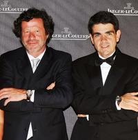 Joaquim de Almeida and Jerome Lambert at the Jaeger Gala Dinner Fondazione Cini during the 65th Venice Film Festival.