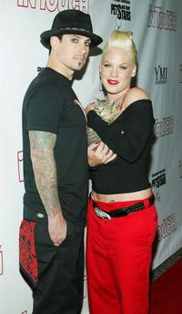 Corey Hart and Pink at the In Touch Weekly Presents Pets and Their Stars Unleashed.