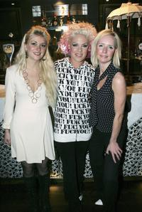 Charli Morgan, Pink and Leigh Purves at the secret album launch party of