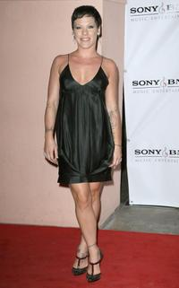 Pink at the Sony BMG Music 2008 Grammy Awards After Party.