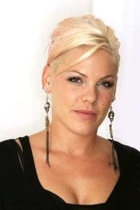 Pink at the studio portrait session to promote her new album