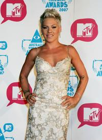 Pink at the third annual MTV Australia Video Music Awards 2007.