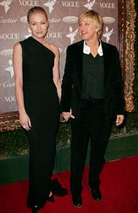 Ellen DeGeneres and Portia De Rossi at the Heaven Celebrating 10 Years event benefiting the Art Elysium.