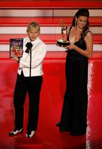 Ellen DeGeneres at the 34th Annual Daytime Emmy Awards.