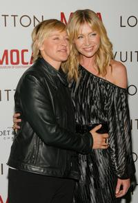 Ellen DeGeneres and Portia De Rossi at the Murakami Gala at MOCA hosted with Louis Vuitton event honoring fashion designer Marc Jacobs.